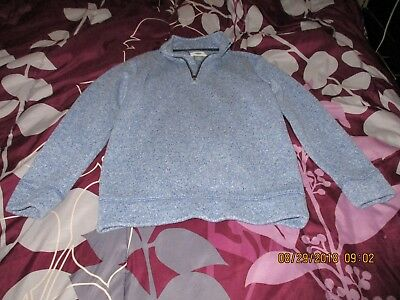 Boys Old Navy Blue Sweater, Size 6-7, polyester, zipper, FREE SHIPPING!