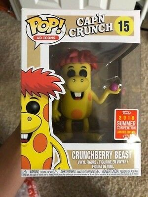 Funko Pop Ad Icons 15 Crunchberry Beast (Cap'n Crunch) SDCC 2018 W/Pop Protector