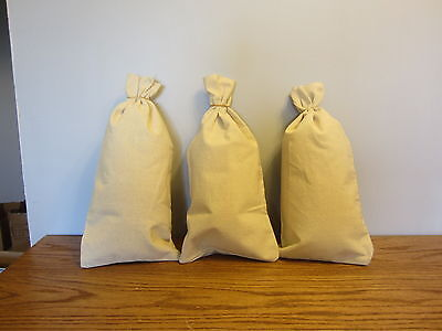 "3 CANVAS 8.5/"" x 14/""  HEAVY DUTY COIN BANK MONEY DEPOSIT TRANSIT CHANGE SACK BAGS"