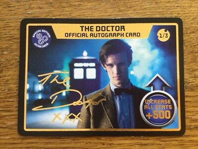 Dr Doctor Who MONSTER INVASION EXTREME Official Autograph Card 1/3 ThE Doctor UR