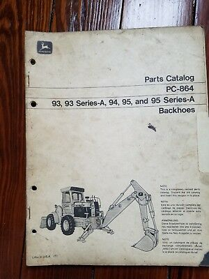 John deere parts catalog insert, 1971-73, backhoes