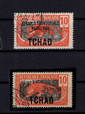 P86031/ TCHAD / CHAD / VARIETY / MAURY # 45a OBL / USED / CERTIFICATE 315 €