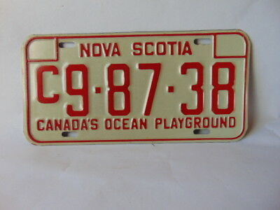 1972/79  Nova Scotia Commercial License Plate never used #C9-87-38
