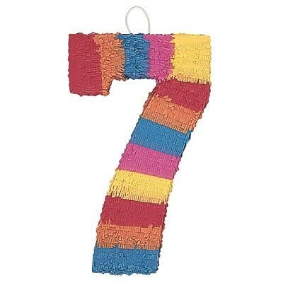 Number Seven Age Milestone Multi Colour Pinata Party Game Decoration
