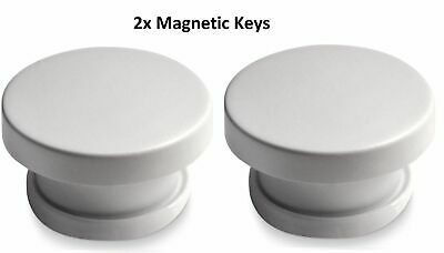2x Invisible Magnetic Baby Child Proof Cupboard Door Drawer Safety Lock KEY ONLY