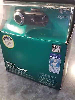 Logitech Webcam Pro 9000 - 2 MP Carl Zeiss Optics HD720p Autofocus Windows 10