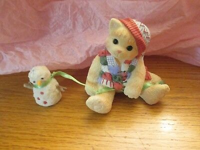 """Enesco Calico Kittens- """"One Look From You Melts My Heart"""""""