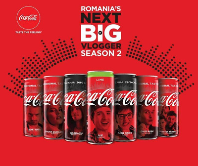 NEW Coca Cola Limited Edition Romania Set 7 Cans NExt Big Vlogger2 bottom opened