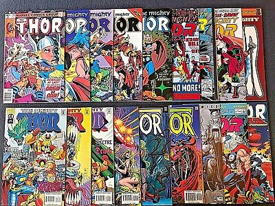 The Mighty THOR Vol. 1-HUGE VINTAGE MARVEL Lot Of 18! Walt Simonson! Giant-Sized