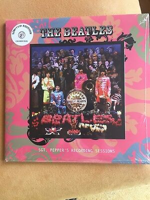 The Beatles Sgt. Peppers Recording Session DoLp neu Swingin Pig Colored Wax