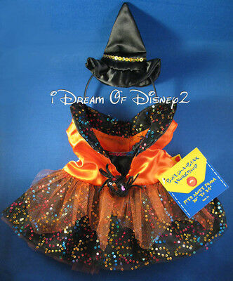 NEW Build-A-Bear SEQUIN WITCH COSTUME & HAT HEADBAND Teddy Clothes