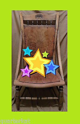 Antique Antiques Chairs Victorian Original Wood Wooden Chair Home Furniture