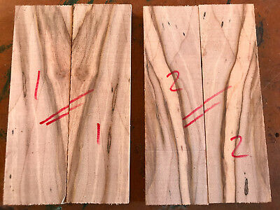Spalted sycamore maple bookmatched knife scale / knife handle sets 150 x 45mm