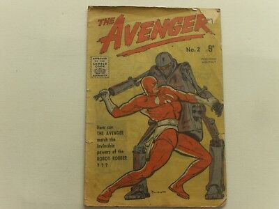 The Avenger  #2  Aussie Edition    Bob Powell Art   An Old Me  Super- Hero  Poor