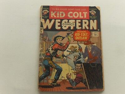 Kid Colt  #4  Atlas  Western  Uk Edition  Thorpe & Porter  68 Pages  1/-  1953