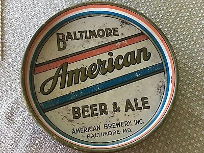 Rare American Brewery Serving Tray Baltimore Maryland