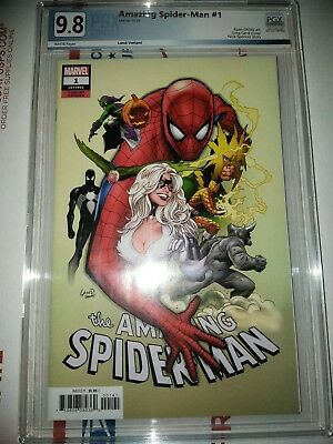 Amazing Spider-Man #1 pgx 9.8  Greg Land Variant Cover - 2018 cgc cbcs