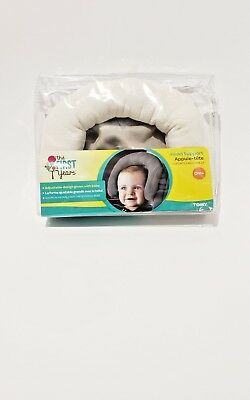 Deluxe Full Head Support Fleurville Newborn to Infant Adjustable Baby. Gray. NEW