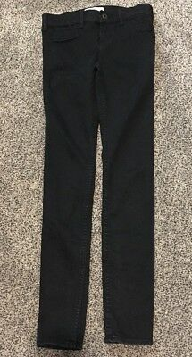 Abercrombie Girl's Large Size 14 Black Skinny Jeans