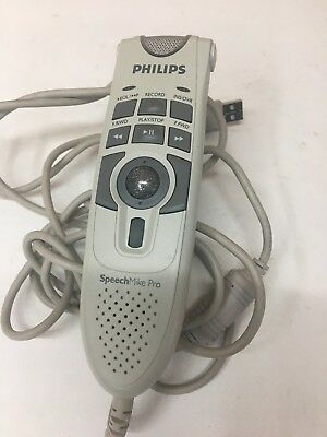Working PHILIPS Model#LFH5274/00 SpeechMike Pro USB Wired Dictation Microphone