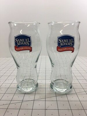 Samuel Adams Boston Lager For The Love of Beer Sam Adams Brewery 2pc Glass Cups
