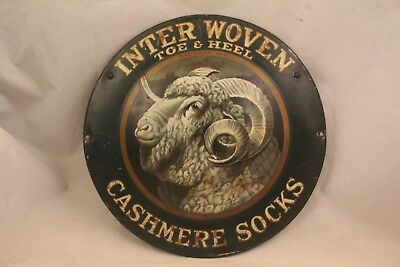 Rare Vintage Inter Woven Cashmere Sock Sign Free Shipping