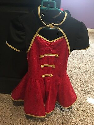 Weissman LC Dance Costume Red Black And Gold Pageant Halloween