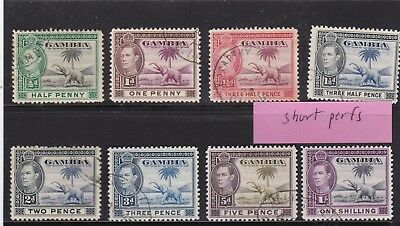 Gambia Misc Used Stamps,a Few Short Perfs
