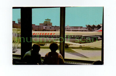Allegheny Dc-9 At Indianapolis Airport Postcard