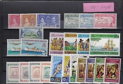 St-Christopher,nevis,anguilla, Misc Mint ,nh-Hinged
