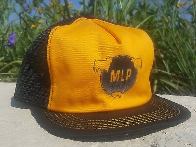 Vintage MLP Mesh Snapback Trucker Hat Patch K PRODUCTS Made In USA