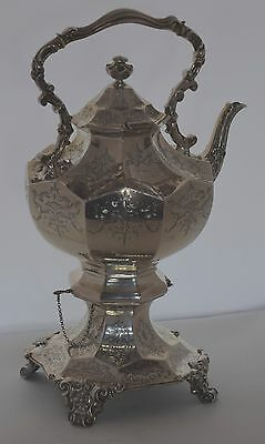 Magnificent antique HUGE English London Sterling Silver Tea pot by Joseph Angell