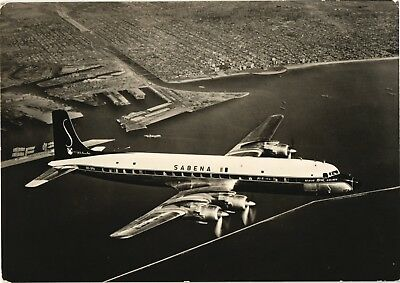 Sabena Douglas DC-7 Airline Issue. Aviation Airplane Postcard