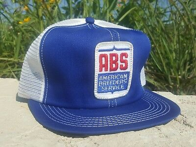 Vintage ABS Mesh Snapback Trucker Hat Patch K PRODUCTS Made In USA