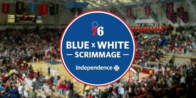 2 Tickets Philadelphia 76ers Sixers Blue & White Scrimmage 9/25 Palestra