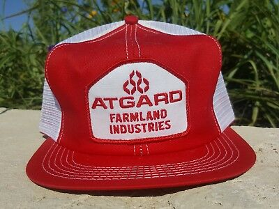 Vintage ATGARD FARMLAND IND Mesh Snapback Trucker Hat Patch K BRAND Made In USA