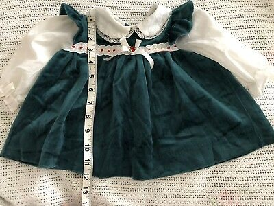 Vintage Christmas Dress/ VTG Green Dress