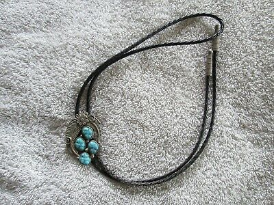 Vintage 4 Turquoise Stones Bolo String Tie