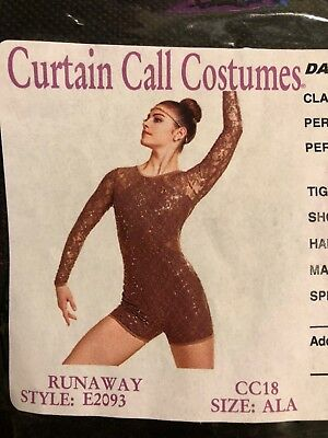 Curtain Call Adult Dance Costume AL Halloween Solo Competition