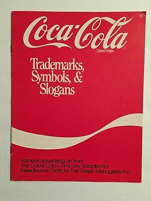 1986 Coca Cola Cross Stitch Pattern Book Coke Charted Trademarks Symbols Slogans