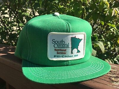 Vintage SOUTH CENTRAL Snapback Trucker Hat Patch K BRAND Made In USA