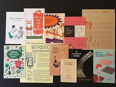 LOT/11 WOMEN'S WORK Housework Sales Canning Starch letters 1910-1960's Booklets
