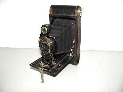 Rare 1917 Folding Brownie No2 Autographic Film Camera In Good Vintage Condition