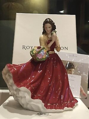Royal Doulton Pretty Ladies CHARLOTTE Red Dress Figurine HN5382 Holiday Sale🎉