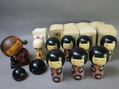 Kokeshi japanese traditional crafts JAPAN rare cute beutiful F/S*