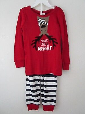 Gymboree Toddler Girl Making Spirits Bright Reindeer Holiday Gymmies Size 2T NWT