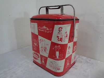 Vintage 1950's Magikooler Leisure Chest Cooler With Original Tray Nice Graphics