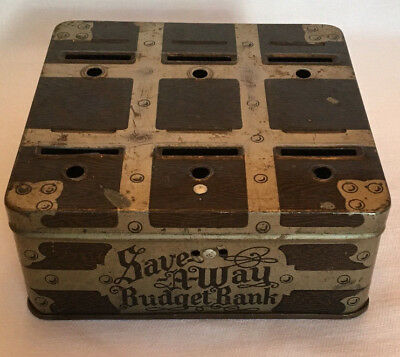 Save A-Way Budget Coin Bank Metal Steelmasters Incorporated Chicago IL Illinois