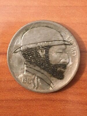 "U.S. ""Hobo Nickel"" Carved Buffalo 5 Cents Coin 1913 - Vintage"