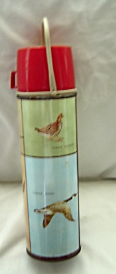 Vintage King Seeley Game Birds Tall Thermos 1 Quart Vintage 1950s King Seeley
